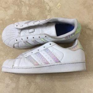 adidas superstar baby pink stripe